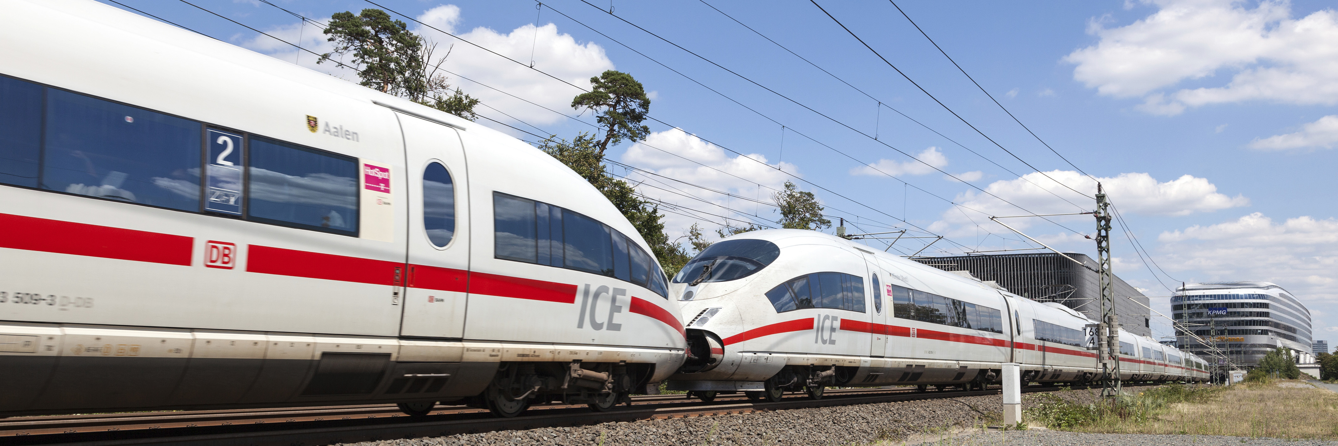 FRANKFURT, GERMANY - JULY 26: Intercity Express (ICE) train of the Deutsche Bahn (DB) at the Frankfurt International Airport (FRA). July 26, 2015 in Frankfurt Main, Germany