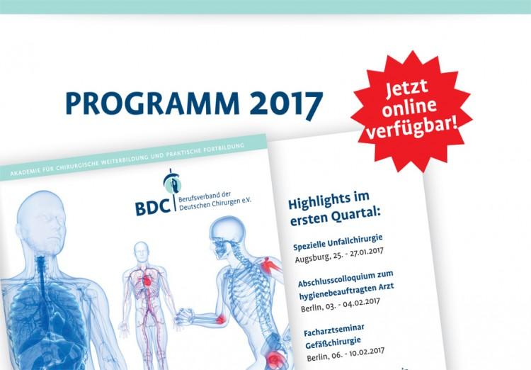 BDC|Akademie-Programm 2017